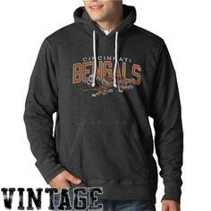 '47 Brand Cincinnati Bengals Slugger Pullover Hoodie - Charcoal
