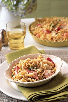 This elegant casserole was inspired by the tuna-noodle childhood favorite. It can be baked in individual casseroles or in one large dish and served buffet style.   Get the recipe.