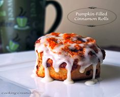 ... glaze more creation pumpkin pumpkin filled cinnamon cinnamon rolls