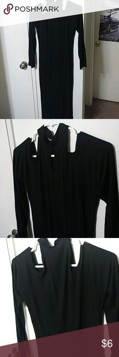 Long sleeve stretchy black dress Long sleeves stretchy dress used once Dresses Long Sleeve