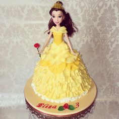 Beauty and the Beast Belle Doll Cake Cakes Pinterest Beast