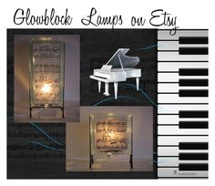 Piano Lamps by glowblocks on Polyvore featuring interior, interiors, interior design, home, home decor and interior decorating