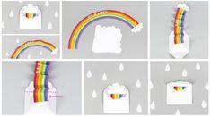 Открытка с радугой / Бумага и карандаши (скрапбукинг, оригами, и т.д.) /