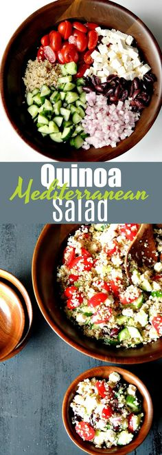 Mediterranean Quinoa Salad - Bring all of those delicious Mediterranean flavors together in this beautiful quinoa salad. Perfect as a side, or a main for your Meatless Monday. #glutenfree #vegetarian #quinoa #salad #healthy #easy #recipe | bobbiskozykitchen.com