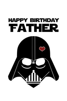 Star Wars Funny Birthday Card for Dad DIY by CleverPrintables