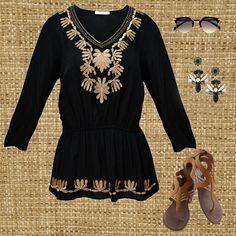 Combina tu blusa Zoara con los accesorios correctos y brilla con el sol. #fashionwoman #bohostyle #outfit