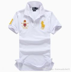 db99e97f2b For Men Designer POLO Ralph American brand design men s cotton double  buckle polo shirt fashion avant