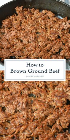 Get perfectly crispy ground beef with a juicy inside every time. The perfect start to any ground beef recipe. Best Beef Recipes, Beef Steak Recipes, Fun Easy Recipes, Delicious Dinner Recipes, Ground Beef Recipes, Lunch Recipes, Dessert Recipes, Favorite Recipes, Slow Cooker Meatloaf