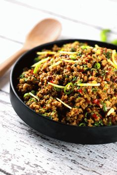 This authentic Indian minced meat Qeema recipe is so delicious, it'll become a regular at your house!! PLUS it's ready in only 20 minutes!
