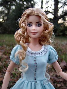 Custom Barbie, Custom Dolls, Disney Dolls, Barbie Dolls, Alice In Wonderland Doll, Mia Wasikowska, Inspirational Celebrities, Doll Repaint, Doll Hair