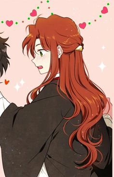 Couple Anime Harry Potter part 2 Anime Couples Drawings, Anime Couples Manga, Couple Drawings, Cute Anime Couples, Love Couple Wallpaper, Matching Wallpaper, Friends Wallpaper, Harry Potter Anime, Animes Wallpapers