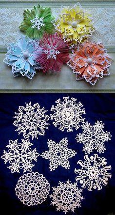 Готовимся к новому году: Красивые снежинки из бумаги — Рукоделие