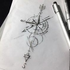 Stunning 7 Ads, 3 Comments – Renan Tattoo Arts (Renan Arts Tattoo) n … - diy tattoo images Arrow Tattoos, Forearm Tattoos, Body Art Tattoos, Sleeve Tattoos, Tattos, Arrow Compass Tattoo, Clock Tattoos, Small Compass Tattoo, Compass Art