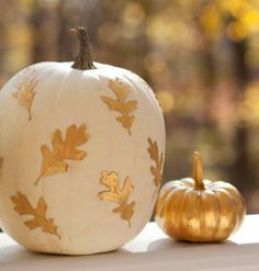 Dress up your pumpkins without the mess of carving with our ideas for painted, glued and draped decorations.