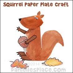 Squirrel Paper Plate Craft for Kids from www.daniellesplace.com