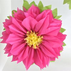 TROPICAL BLOOM. 7 Giant Paper Flowers wedding by whimsypie on Etsy
