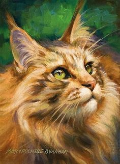 "Daily Paintworks - ""Whats New, Pussycat"