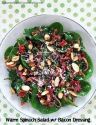 #Spinach Salad with Warm Bacon Dressing