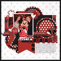 Disney scrapbook layout Minnie