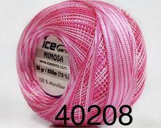 TURQUOISE Tulip YarnArt Microfiber Crochet Thread Size 10 Silky Weight Size 0