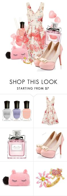 """""""Summer Breeze"""" by mongryong ❤ liked on Polyvore featuring Deborah Lippmann, Chi Chi, Christian Dior, Forever 21, Oscar de la Renta and Kate Spade"""
