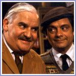 Ronnie Barker and David Jason - Open All Hours British Sitcoms, British Comedy, Great Comedies, Classic Comedies, Ronnie Barker, Open All Hours, David Jason, Queens Of Comedy, Uk Tv
