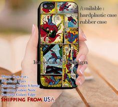 Comic Strips Spiderman iPhone 6s 6 6s  5c 5s Cases Samsung Galaxy s5 s6 Edge  NOTE 5 4 3 #movie #disney #animated #marvel #comic #spiderman dl12