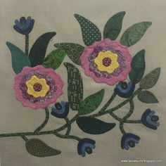 Here is the latest block for the Caswell quilt, I'm thrilled to have another one checked of the list - this project has me hooked! Applique Quilt Patterns, Hand Applique, Flower Applique, Embroidery Applique, Nancy Zieman, Caswell Quilt, Flower Quilts, Quilt Batting, Quilt Stitching