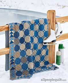 See the featured quilts and web-exclusive color options and projects from the American Patchwork & Quilting February 2020 issue. Two Color Quilts, Blue Quilts, Scrappy Quilts, Quilt Block Patterns, Quilt Blocks, All People Quilt, Snowball Quilts, American Patchwork And Quilting, Straight Line Quilting