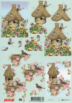 Bird house 3D Decoupage Pickup