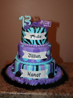 13th birthday cakes for girls 13th Birthday Cakes for Girls and Boys
