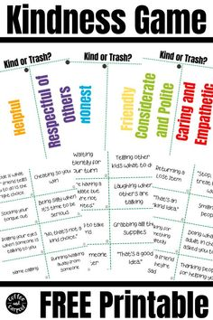 This Trash or Kindness Game is a great way to talk to kids about kindness and create more kind kids. Kindness activities for kids don't have to be boring. This is perfect sel curriculum for morning meetings or for family dinners because kindness is essential #kindnessactivities #kindnessactivitiesforkids #kindclassroom #sel #selcurriculum Kindness Activities, Science Activities, Science Projects, What Is Kindness, Bored Jar, Boredom Busters For Kids, Action Cards, Autumn Activities For Kids, Family Fun Night