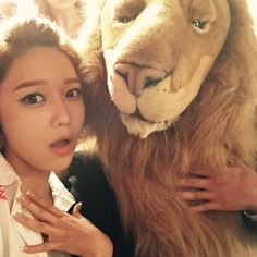 SNSD SooYoung's selfie with Lion Heart