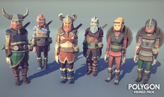 Vikings Pack - Asset Store. A low poly asset pack of characters, buildings, props, items and environment assets to create a fantasy based polygonal style game.  Modular sections are easy to piece together in a variety of combinations. Unity 3D game Asset.