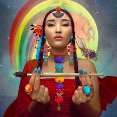 "#rainbowwarrior The Cree, Hopi and Sioux Indians speak about mighty Rainbow Warriors that will inhabit our planet in the future and they will come in time of the great awakening. A Native American prophecy tells us that ""when the earth is ravaged and the animals are dying, a new tribe of people shall come unto the earth from many colors, classes, creeds and who by their actions and deeds shall make the earth green again. They will be known as the Warriors of the Rainbow."""