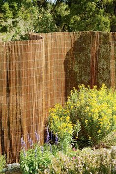 Willow Garden Fencing | Buy from Gardener's Supply...Great Idea for Cheap Privacy Fence fix!!!