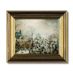 'Winter Landscape with Skaters'  Hendrick Avercamp, 'Winter Landscape with Skaters' (c. 1608)
