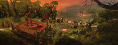 World of Warcraft / Movie Key Frame by john 'jD' dickenson on ArtStation. Environment Painting, Environment Concept Art, World Of Warcraft Movie, Key Frame, Matte Painting, Fantasy Landscape, Landscapes, Scenery, City