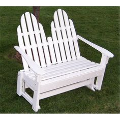 Prairie Leisure Design Adirondack Patio Glider Loveseat - Outdoorsrockingchair.com
