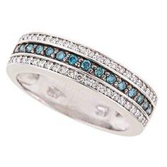 Blue diamond rings
