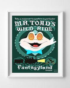 Vintage Disneyland Poster Print Mr. Todd's Wild by InkistPrints