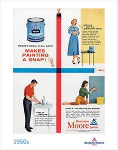 1950's benjamin moore ad