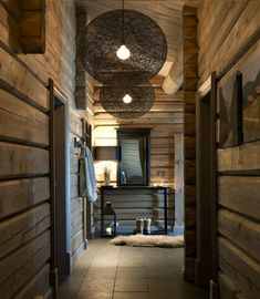 Fabulous colour on the walls Chalet Design, Chalet Style, House Design, Chalet Interior, Interior Exterior, Cabin Homes, Log Homes, My New Room, Cabana