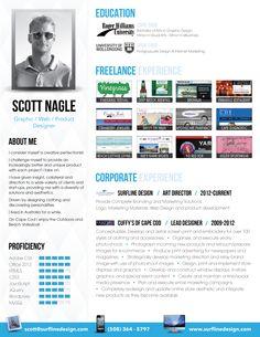 Great idea - Infographic CV - Scott Nagle @ Pinfographics