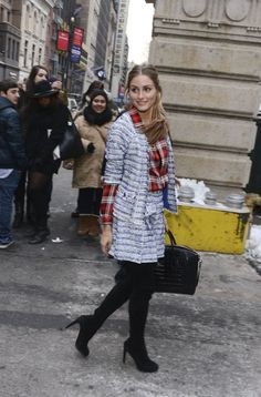 Olivia Palermo arriving at the Marchesa show in New York. See all of the model's best looks.