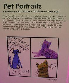 Mrs. Knight's Smartest Artists: Warhol's Ink Blot Monoprints: pet portraits