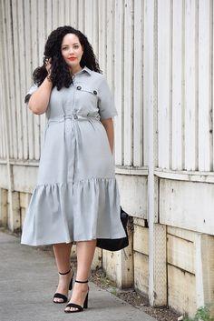 33b2ae994cfab Ruffle Hem Dress via  GirlWithCurves https   girlwithcurves.com this-