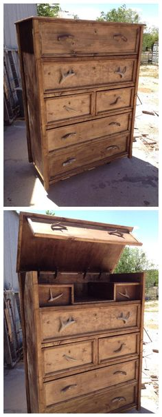 Secret Compartment Convertible Dresser #woodworking #furniture #upcycle