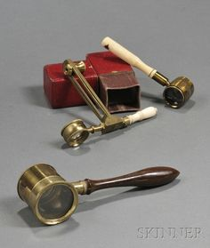 Victorian hand held microscopes