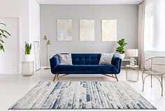 Royal Blue Couch, Navy Blue Sofa, Blue Couches, Blue Couch Living Room, Navy Blue Living Room, Living Room Interior, Blue Furniture, Home Decor Furniture, Living Room Furniture